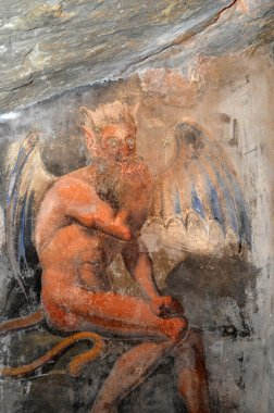 The cave of the Devil in the Benedictine monastery of Subiaco in