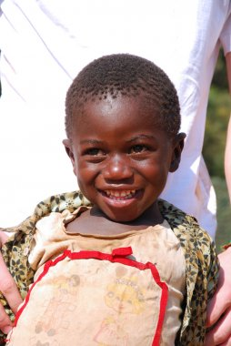 African children suffering from AIDS followed by the non-profit