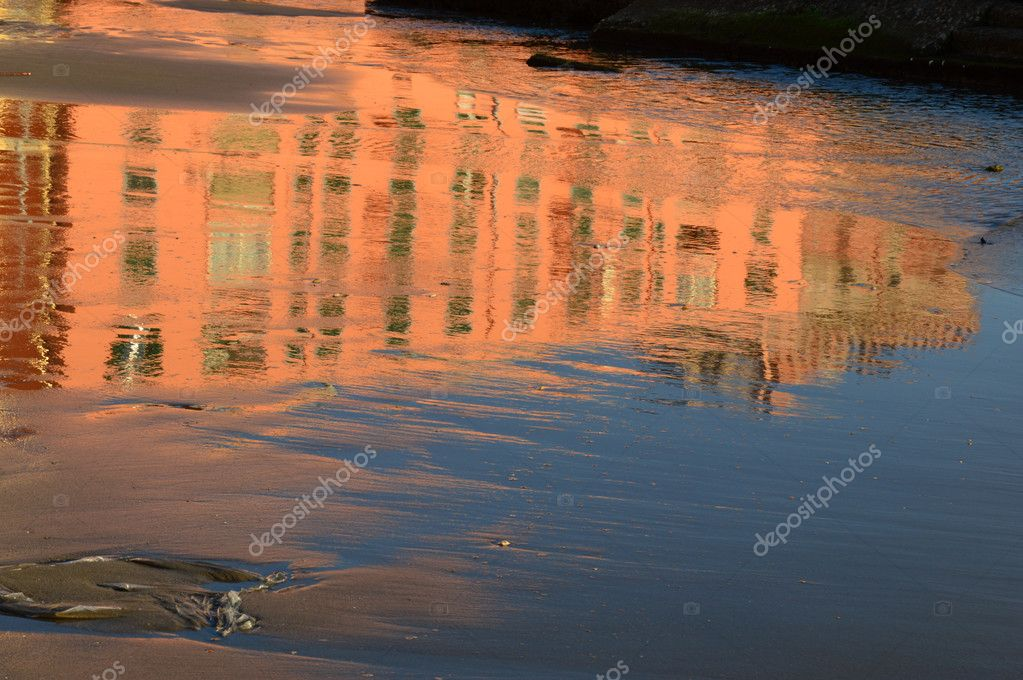 Reflections of light on water in the sea of Anzio - Rome