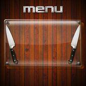 Pozadí rustikální menu - skleněná deska