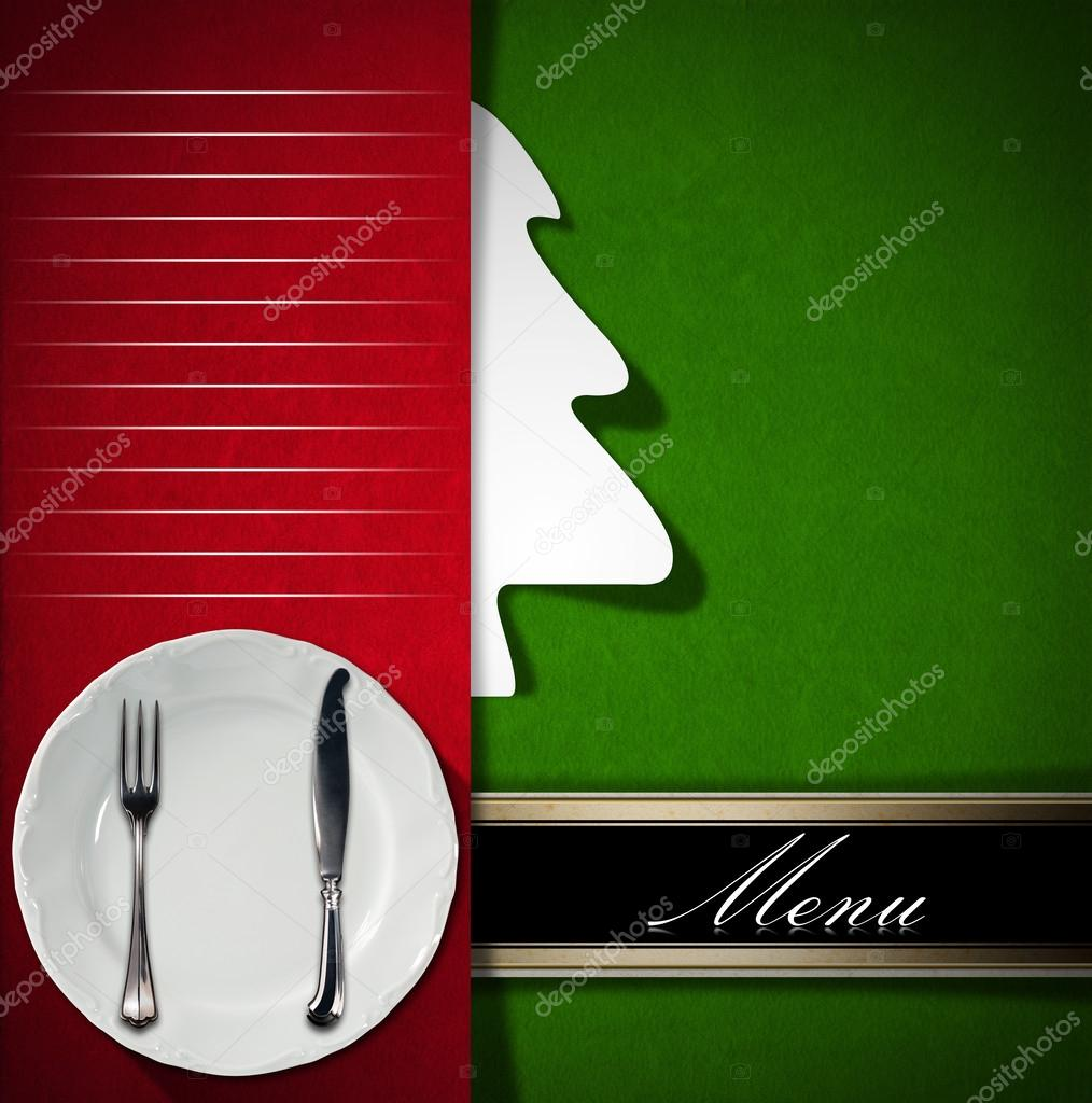 menú de Navidad restaurante — Fotos de Stock © catalby #59169991