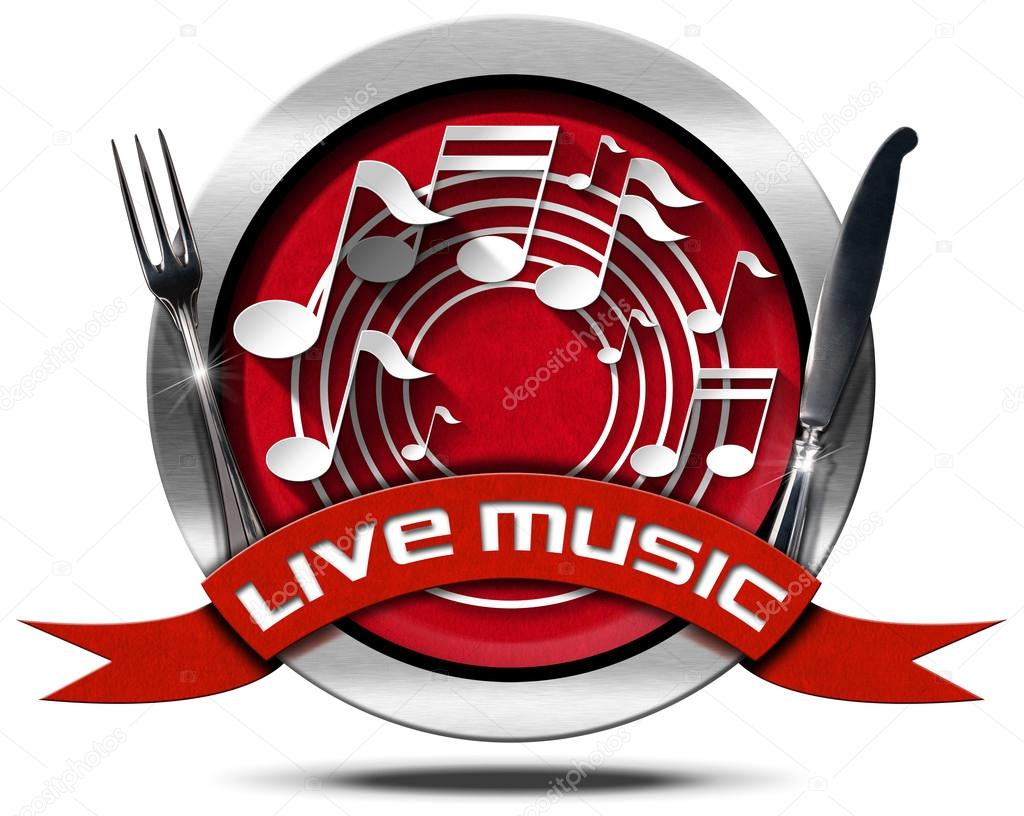 Live Music and Food - Metal Icon