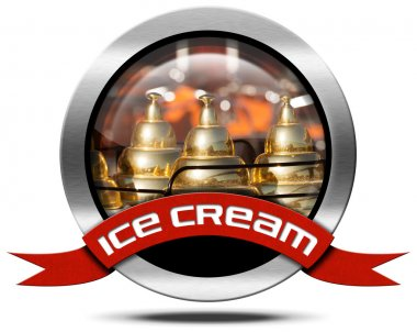 Ice Cream - Metal Icon