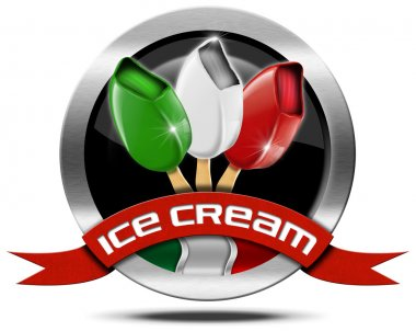 Italian Ice Cream - Metal Icon