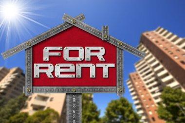 House For Rent Sign - Metallic Meter