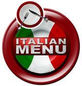 Menu italiano - tondo icona con piastra
