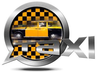 Taxi Service - Metallic Speech Bubble