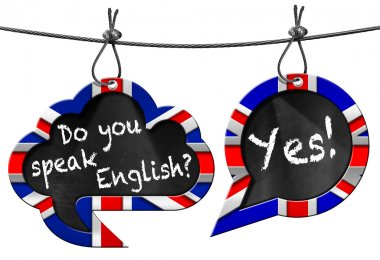 Do You Speak English - Two Speech Bubbles