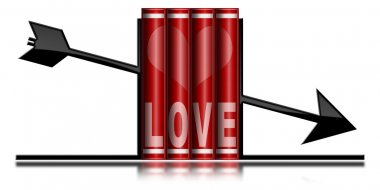 Love Books - Bookends Arrow Shaped