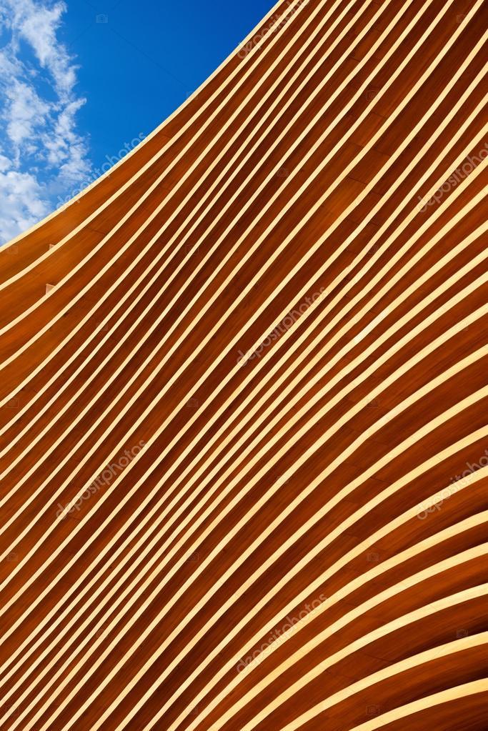 Moderne holzarchitektur  der moderne Holzarchitektur — Stockfoto #99198368