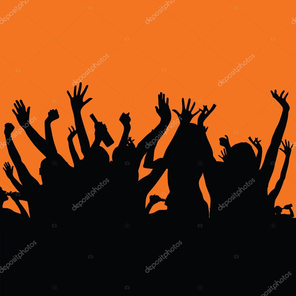 party people color art vector