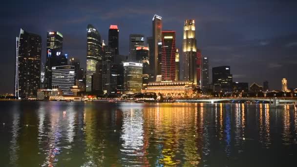 Night view of Singapore skyline