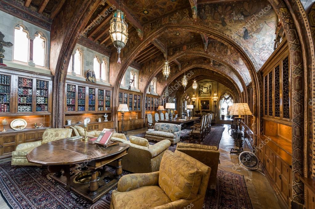 Soggiorno e sale da pranzo. Castello di Hearst — Foto Editoriale ...