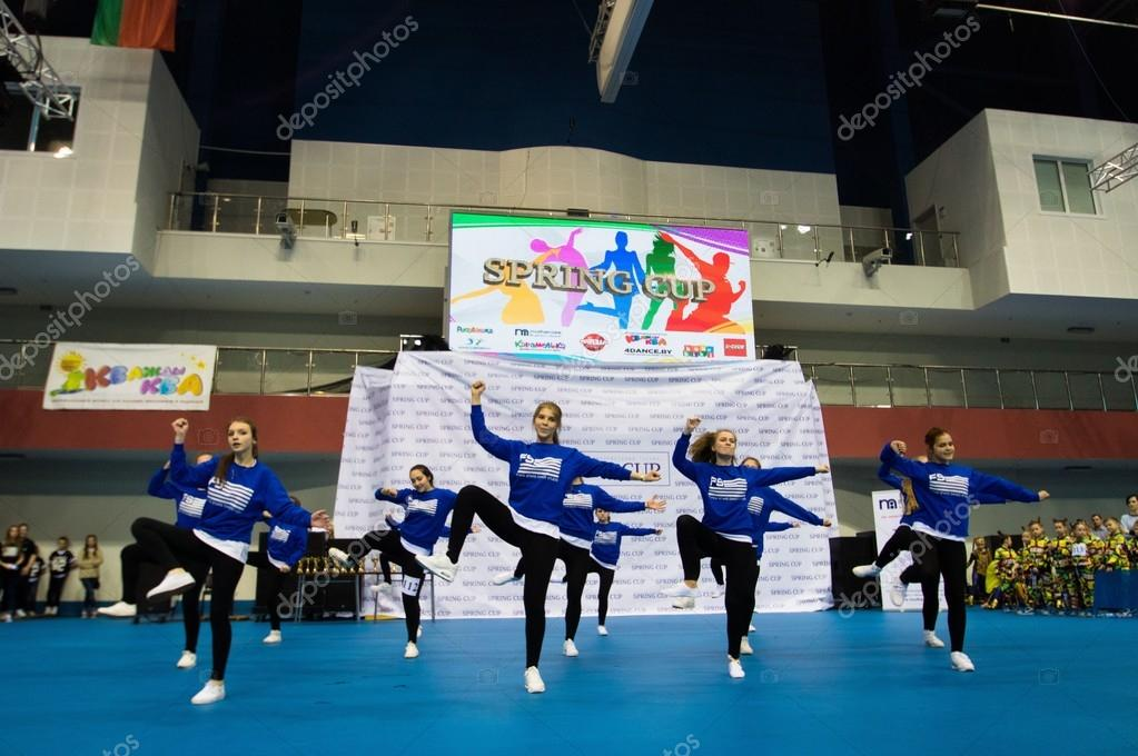 MINSK - MAY 02: Unidentified children compete in the SpringCup international dance competition, on May 02, 2015, in Minsk, Belarus.