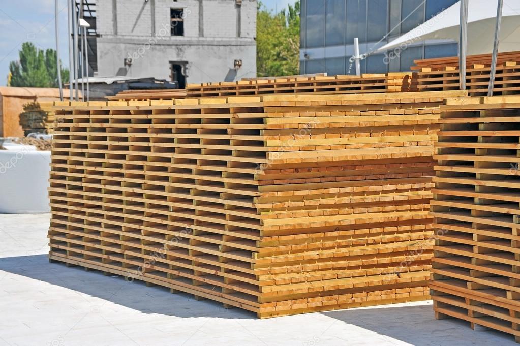Tabla de madera para terraza — Fotos de Stock © unkas #98997642