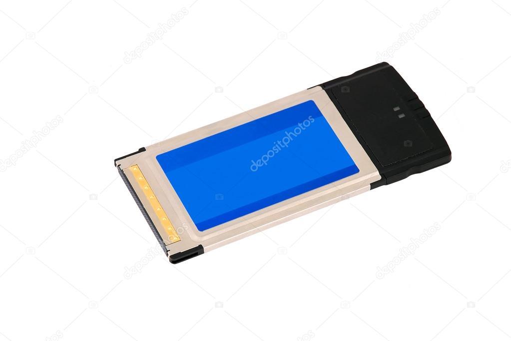 drahtloser Pcmcia Cardbus WLAN adapter — Stockfoto © unkas #99132924