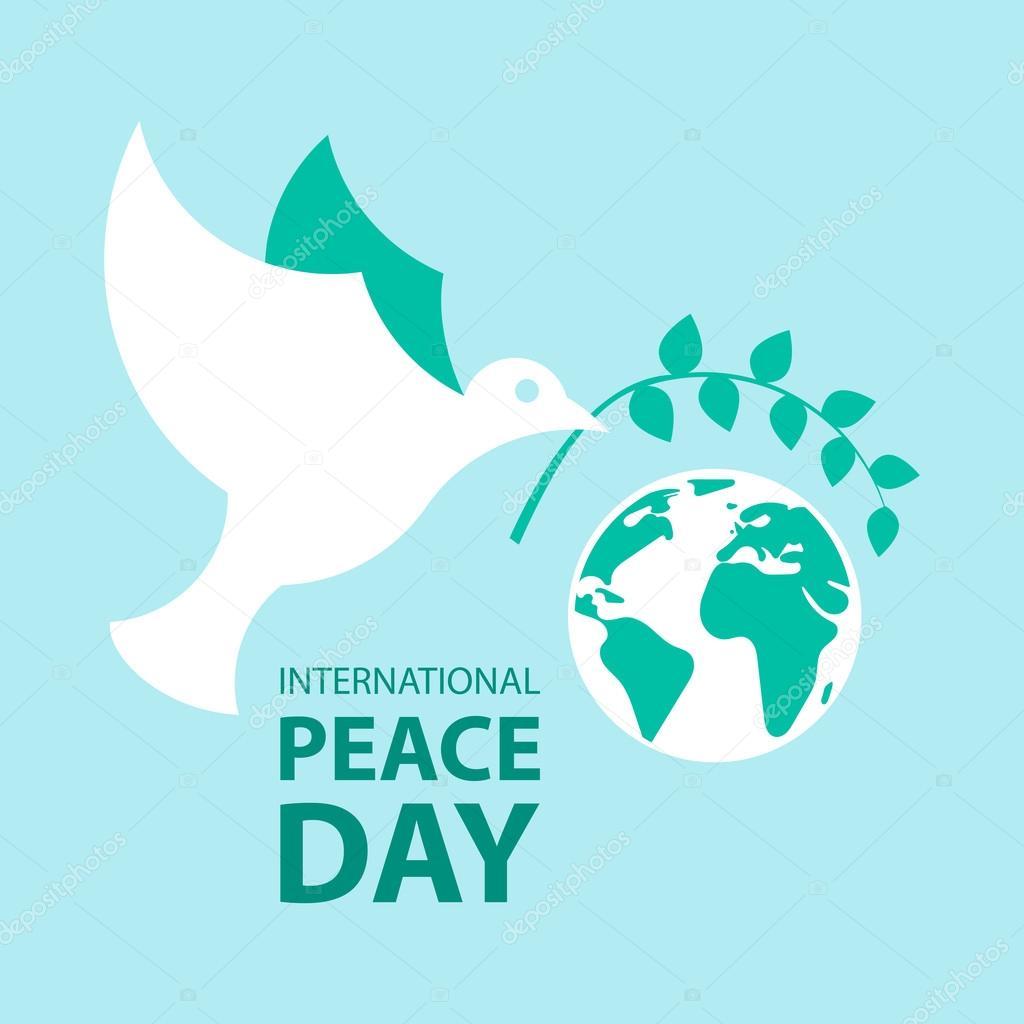 国際平和デーのポスターのための...