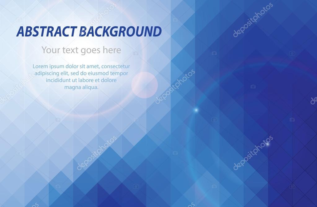 Abstrakt Blau Geometrische Visitenkarte Hintergrund