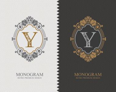 Letter emblem Y template