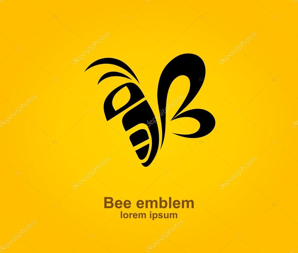 conception de logo abeille image vectorielle dendiz honey bee look alike honey bee login