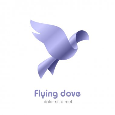 Flying Dove abstract Logo