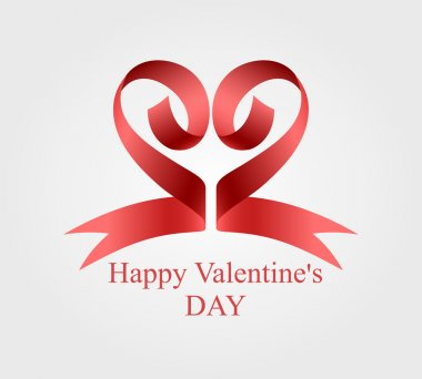 ribbon Heart for Valentine day