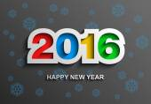 2016 Happy new year modern vector background, Creative greeting card design template, Vector illustration Eps 10