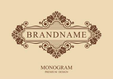 Monogram design elements, Calligraphic graceful template, Typographic sign, Elegant line art logo, Business sign for Royalty, Boutique, Cafe, Hotel, Heraldic, Jewelry, Wine, Vector illustration Eps 10