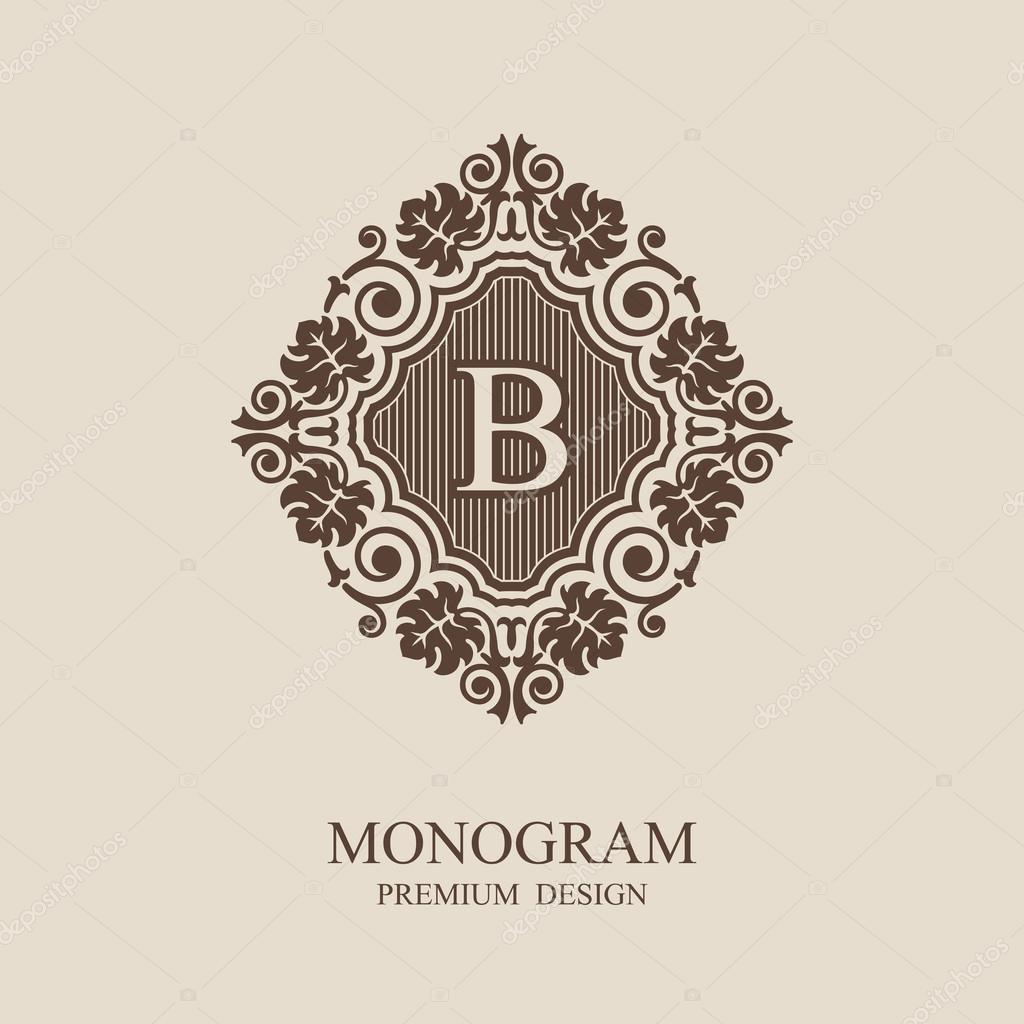 stylish graceful monogram template elegant line art logo design in