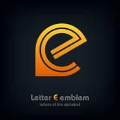 Fotografie Letter E logo icon