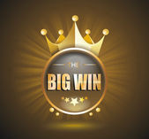 Photo Big Win gold sign for online casino, poker, roulette, slot machi