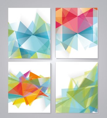 Abstract geometric background for use in design. Vector stock vector