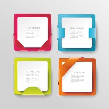 Vector modern banners or frames element design. Plastic web plat