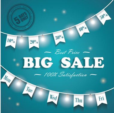 Big Sale poster, 5 days sale only