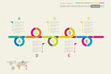 Time Line Design. Can be used for workflow layout, diagram
