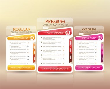 Price list widget with 3 payment plans, websites and application