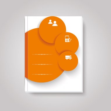 Vector brochure  design with circles elements.