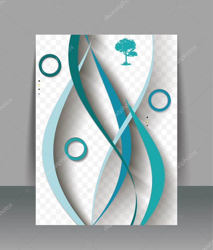 Broşür Tasarım şablonu Soyut Dalgalar Arka Plan Vektör Stok