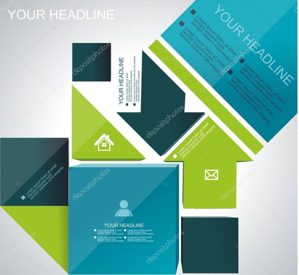 Vector brochure, flyer, magazine cover, web page, poster templat