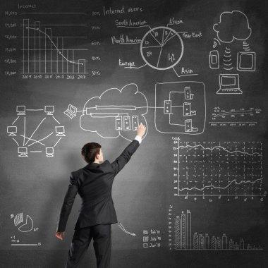 Man writing business plan