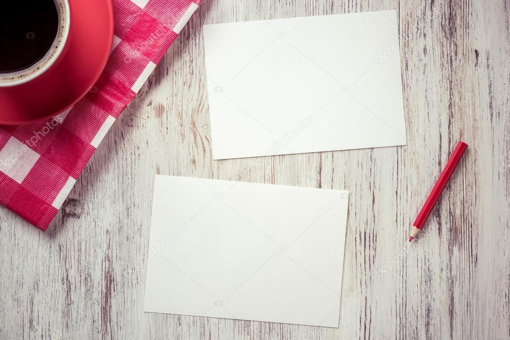 recipe papers with coffee cup stock photo khakimullin 106053016