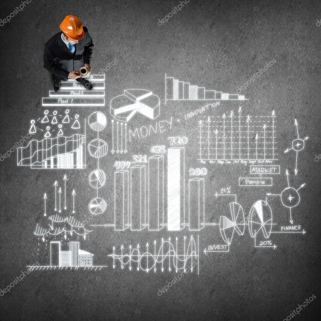 Ingenieur-Mann mit Business-Strategie — Stockfoto © Khakimullin ...
