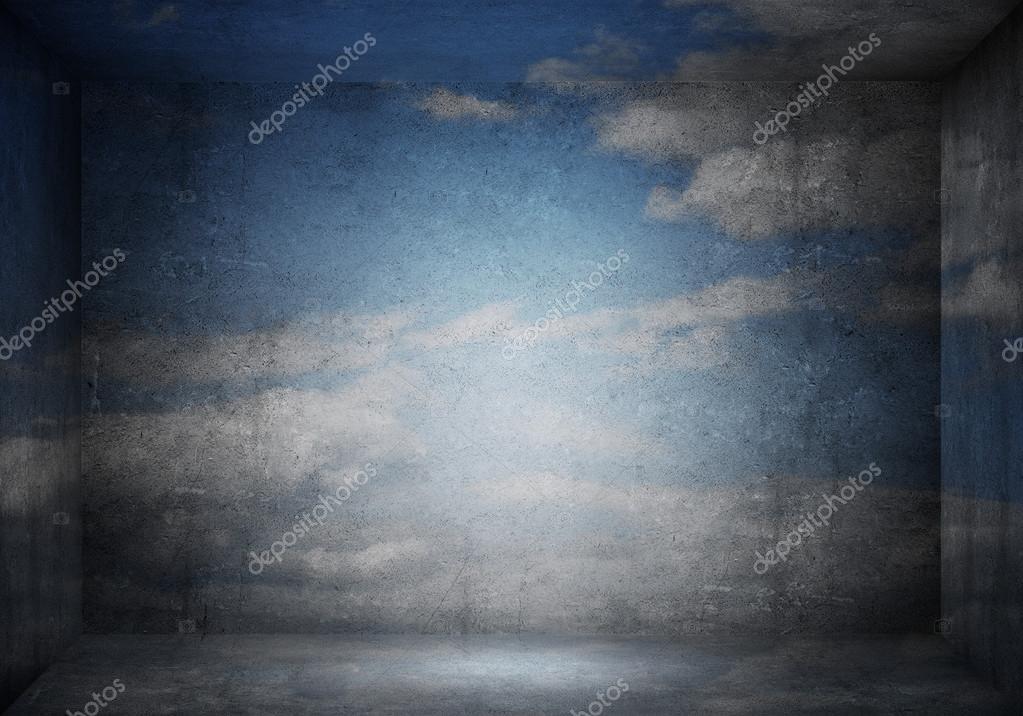 Kamer met concept van de hemel blauwe wolk u stockfoto