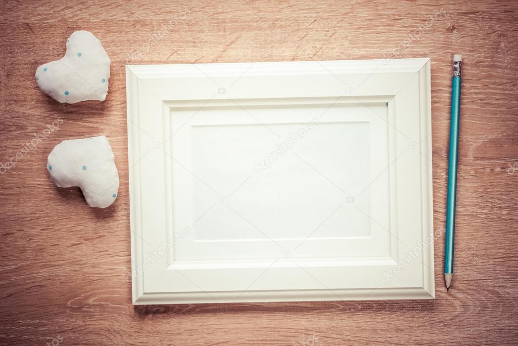corazones rojos pequeño de foto marco — Foto de stock © Khakimullin ...