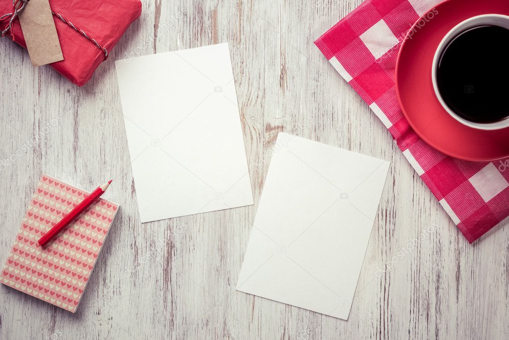 recipe papers with coffee cup stock photo khakimullin 106075272