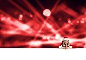 Santa žena s prázdný nápis