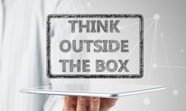 Thinking outside the box concept