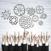 Fotografie koncept podnikání a týmová práce