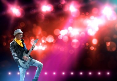 Rock star on stage