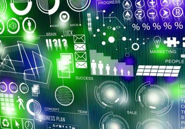 Innovative technologies. Digital business background